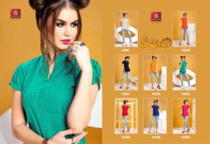 Valas 5 Star cotton short top Kurtis Manufacturer Wholesale @ RS 275