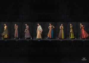 Vasanche Silken Designer Silk Gowns Kurtis Wholesaler @ RS 1159