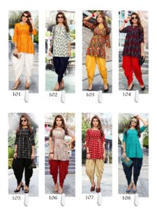 gopal present patola vol 1 rayon top with dhoti pattern Kurtis wholesale @ RS 590