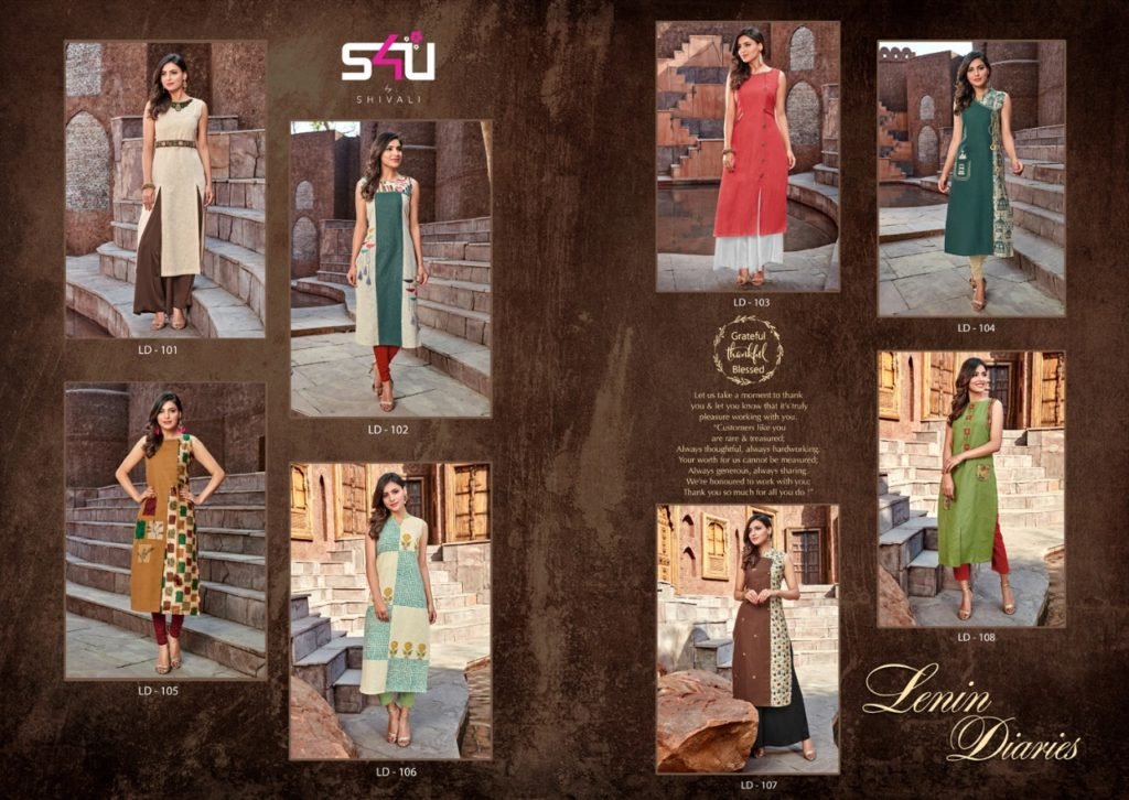 s4u Lenin Diaries Kurtis catalogs wholesale supplier