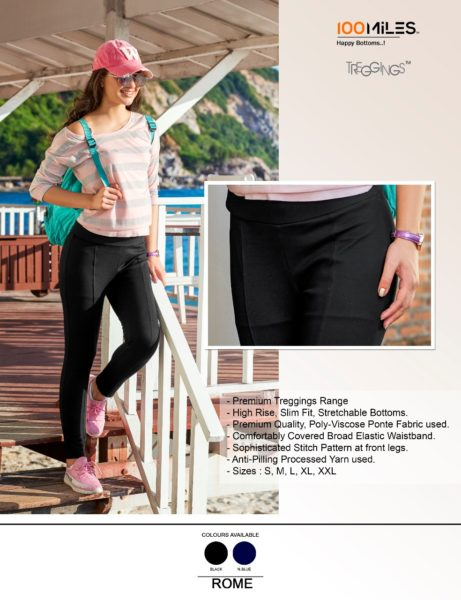 100 miles palazzo treggings bottom wear wholesaler
