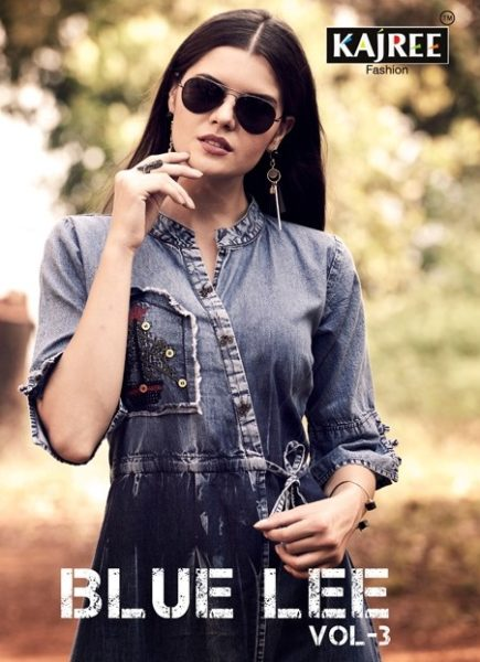 Blue lee vol 3  Kajree fashion Denim long winter Kurtis wholesale