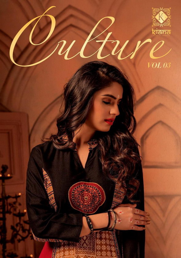Culture vol 3 by Kiana Designer Flair Kurtis wholesale Manufacturer