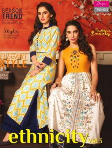 Diya trends Ethnicity vol 3  Kurtis online wholesaler