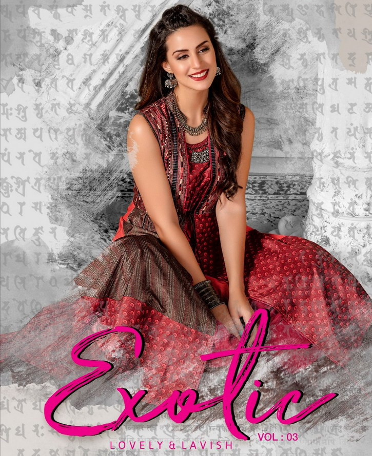 Exotic vol 3 by S4U shivali Designer Gown Kurtis wholesaler