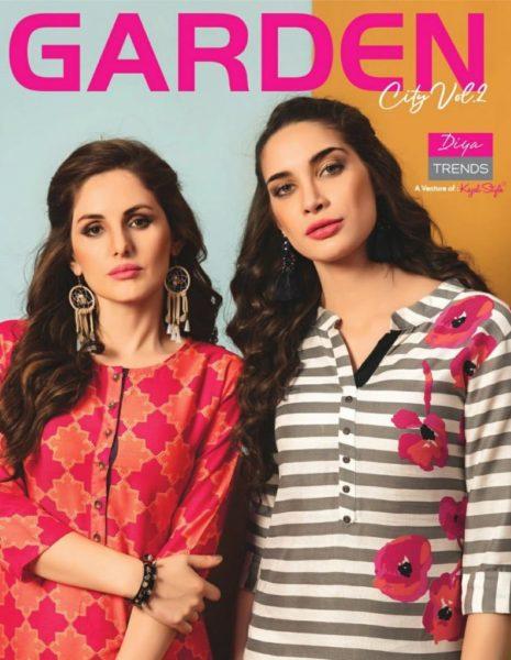 Gardencity Vol 2 Diya Trends Rayon Kurtis wholesaler