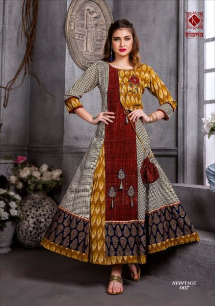 Heritage by Kiana Designer long Gown Kurtis Wholesale supplier