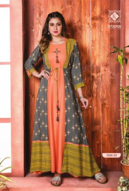 Kiana presents crown long designer kurtis wholesaler manufacturer