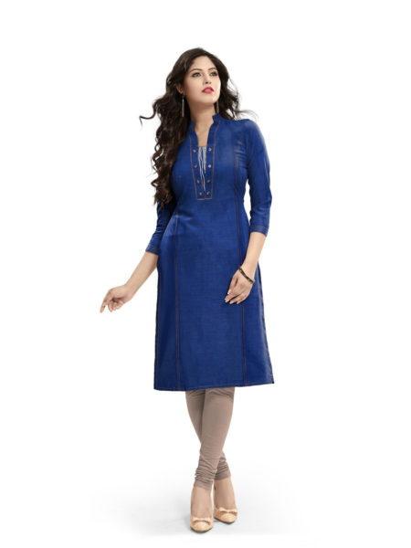Minaz Denim look Cotton Kurtis manufacturer
