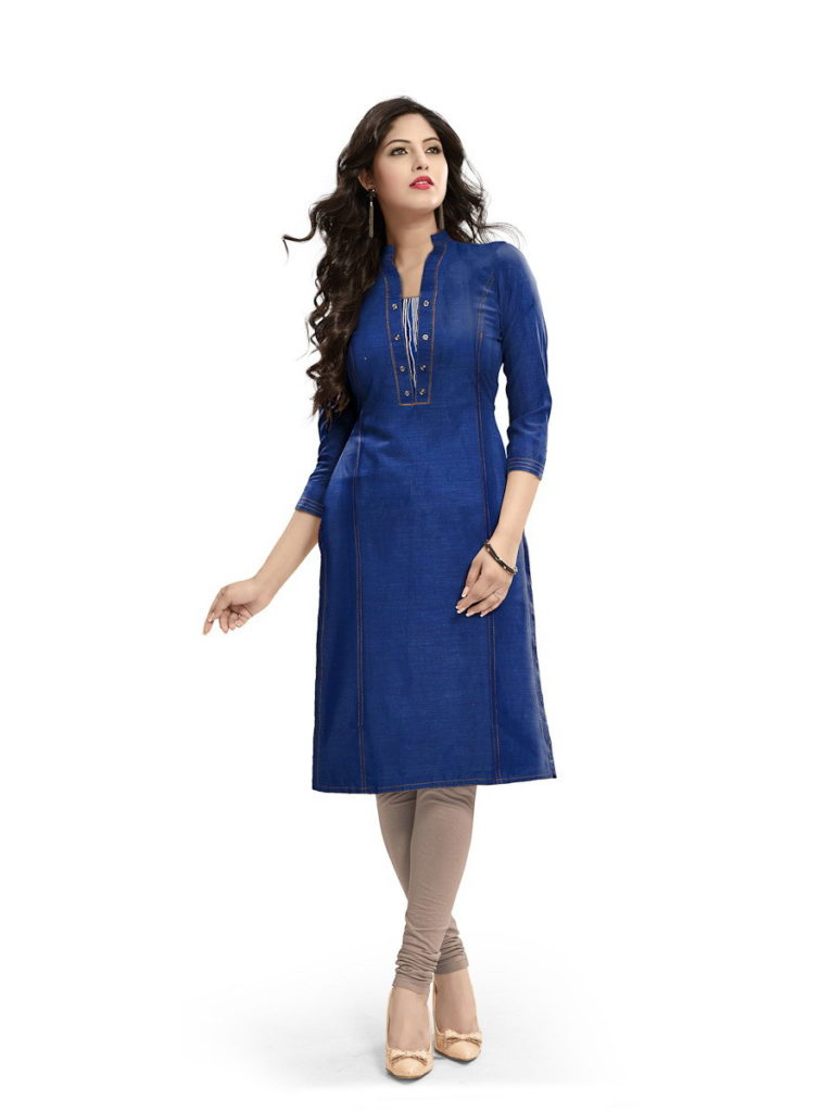 Minaz Denim look Cotton Kurtis manufacturer @ RS 275