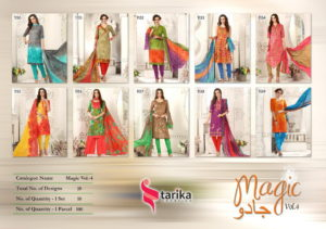 Tarika Magic vol 4 Karanchi print Cotton Dress Materials wholesaler