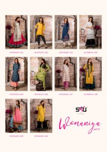 womaniya vol 10 by s4u by shivali Kurtis with bottom wholesale supplier @ RS 999