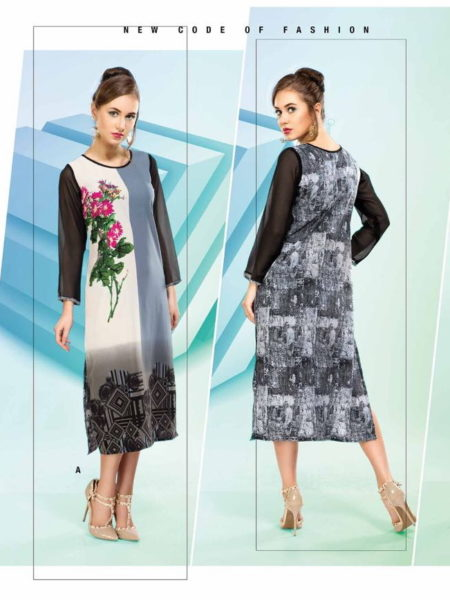 Spirit vol 2 Digital print Georgette Kurtis Manufacturer