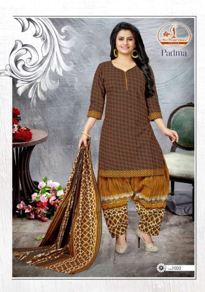 Padma Miss World Low range cotton print Dress Materials wholesaler