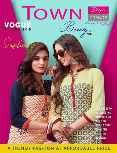 Town Beauty vol 1 by Diya trendz cotton Kurtis wholesale supplier