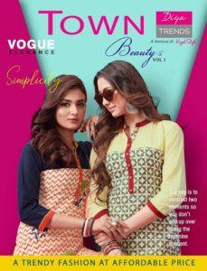 Town Beauty vol 1 by Diya trendz cotton Kurtis wholesale supplier