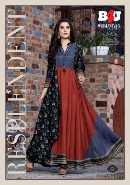Womaniya vol 3 by B4U Designer Kurtis manufacturer wholesaler