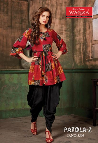 wanna patola vol 2 Rayon Kurtis With Dhoti Catalog wholesaler