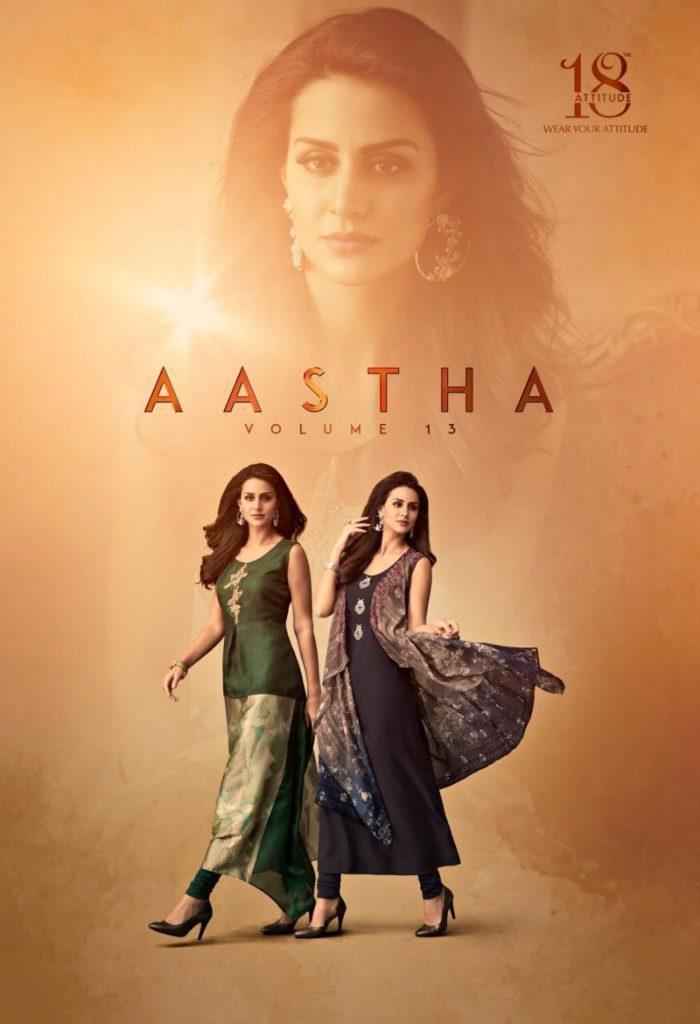 Aastha vol 13 18 Attitude Designer Kurtis manufacturer