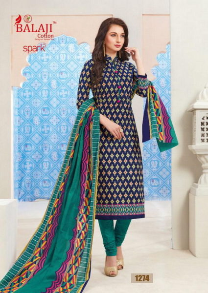 Balaji SPARK Vol 11 Cotton Print Dress materials wholesaler