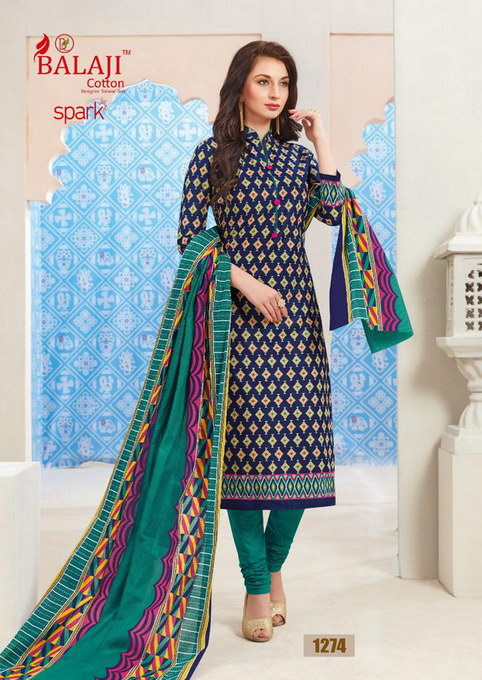 Balaji SPARK Vol 11 Cotton Print Dress materials wholesaler