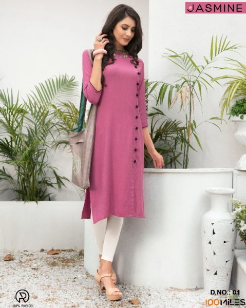 100 miles Jasmine Fancy Long Kurtis wholesaler