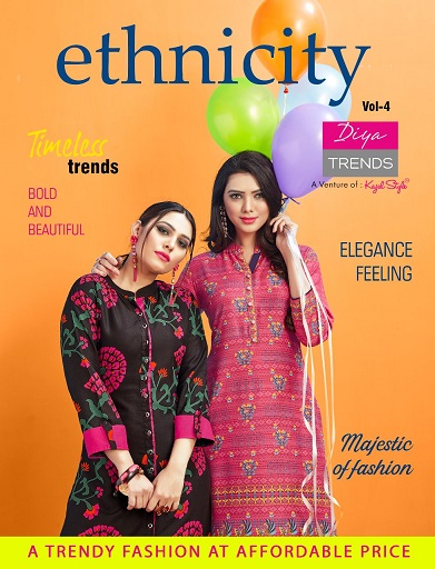 Diya Ethnicity vol 4 formal cotton Kurtis wholesalers