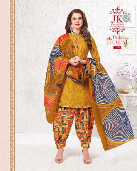 JK Patiyala house vol 1 Cotton printed dress materials wholesaler
