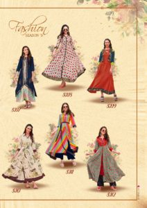 kajal style fashion season vol 3 party wear designer Kurtis wholesaler