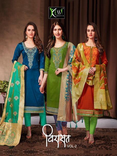 kessi virasat vol 2 Designer Silk salwar kameez wholesaler