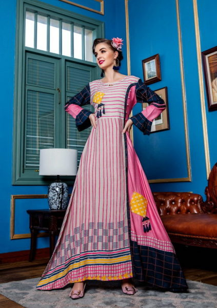 Heritage vol 2 By Kiana Designer Long Gown Kurtis Wholesale Supplier