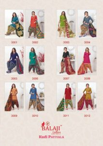 Balaji Kudi patiyala vol 3 cotton dress materials wholesalers