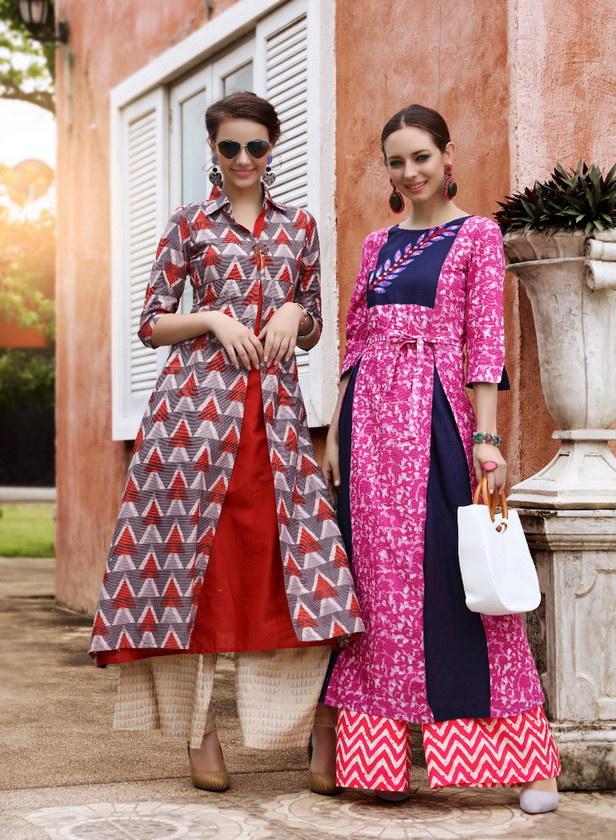 Kajal Adiba vol 2 Frock style Long Kurtis wholesaler