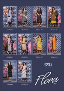 S4U Flora vol 8 Designer Long Rayon Kurtis wholesaler