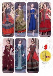 B4u Vdesi vol 3 partywear Designer Kurtis wholesaler