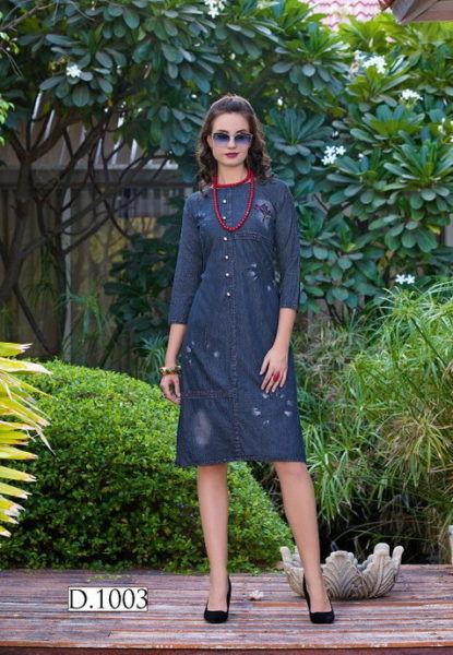 Blue berry Denim Kurtis wholesaler