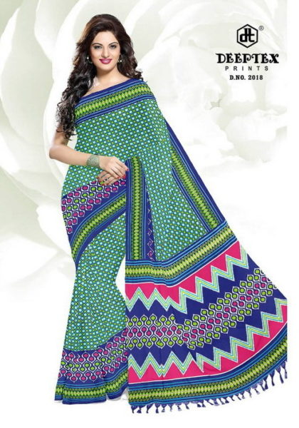 Deeptex Ikkat vol 2 cotton print sarees wholesaler