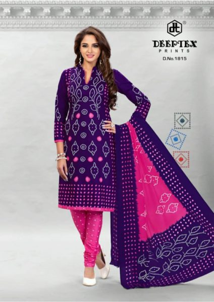 Deeptex Classic Chunaria vol 18 Bandhani print cotton Dress Materials wholesaler