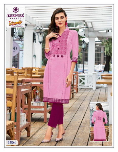 Deeptex i candy vol 15 low rate Kurtis wholesaler