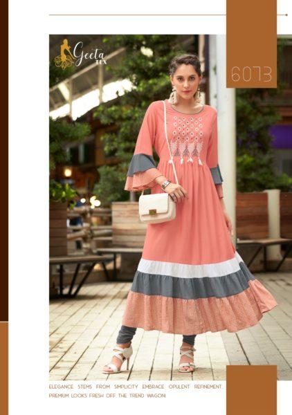 Geeta Tex Galeria Ethnic Designer Kurtis catalog wholesaler