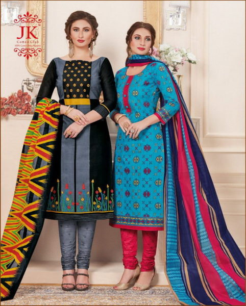 JK Simran vol 8 Cotton print Dress Materials wholesaler