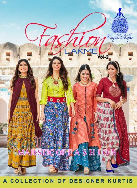 Lakme vol 2 Kajal Style Designer Kurtis wholesaler