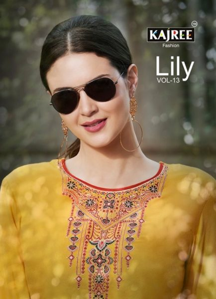 Lily vol 13 Kajree Rayon work Kurtis wholesale Manufacturer
