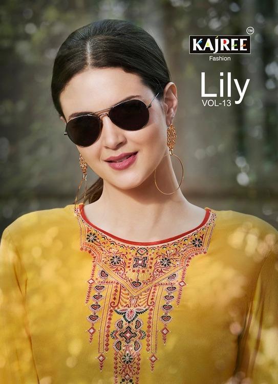 Lily vol 13 Kajree Rayon work Kurtis wholesale Manufacturer
