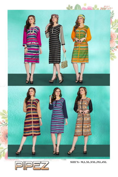 Pipez Low range Reyon Kurtis wholesaler