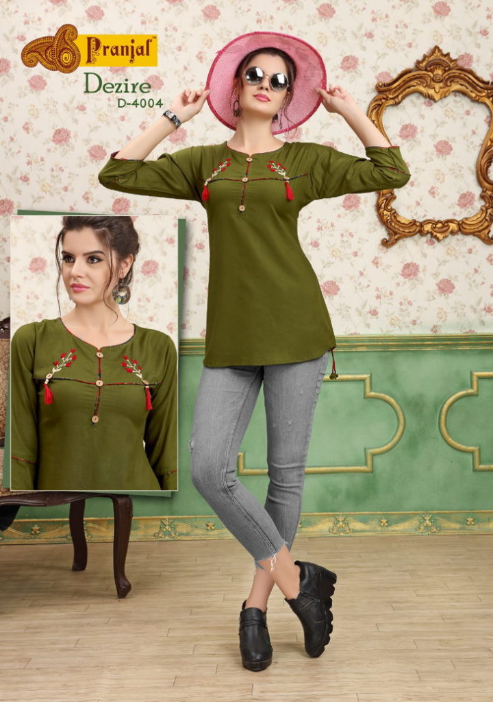 Pranjul Dezire vol 4 Short Tops Kurtis wholesaler