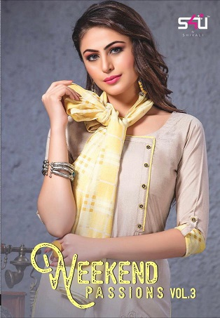 S4U Weekend Passion vol 4 Kurtis with stoles wholesaler