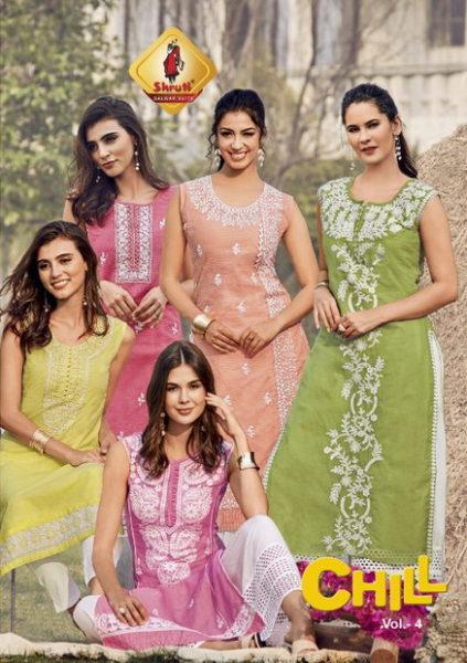 Shruti Chill vol 4 Linen Kurtis wholesaler