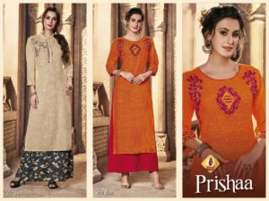 Shruti Prishaa Designer Kurtis wholesalers