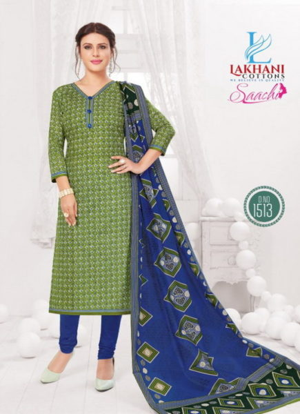Saachi Vol 15 Cotton unstiched Dress materials wholesaler